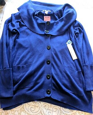 Keneth Cole New York Womens button down Sweater size large