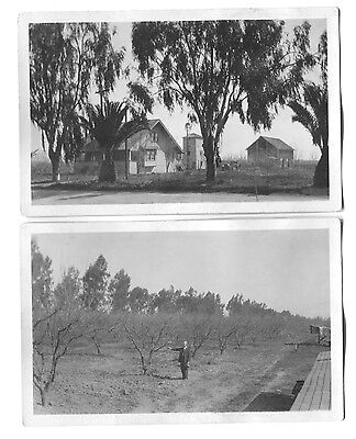2 1926 House   Orchard Grove Patterson California Postcards
