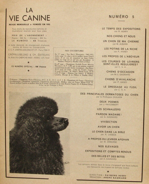 Lot 2 revues la vie canine n°5-13 - le dobermann - pointer - chiens avalanche