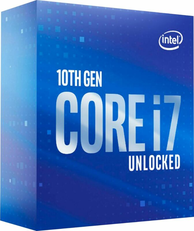 Intel - Core i7-10700K 10th Generation 8-Core - 16-Thread - 3.8 GHz (5.1 GHz ...
