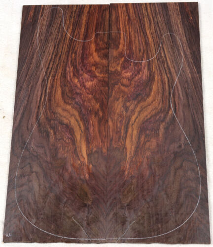 Crotch figure Indian rosewood top for electric guitar RDT4C