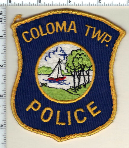 Coloma Police (Michigan) Uniform Take-Off Shoulder Patch from 1993