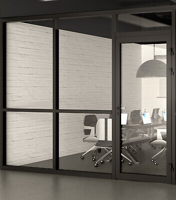 Cgp Office Partition System Glass Aluminum Wall 10 X 9 Wdoor Black Color