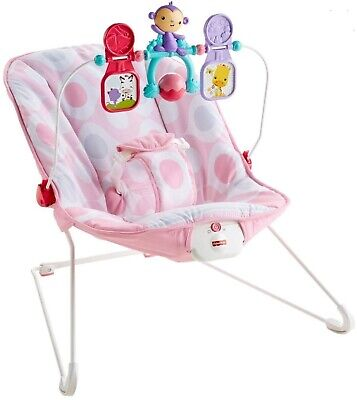 Fisher-Price Baby's Bouncer Pink Ellipse One Size 2 IN 1 SOOTHING & FUN 3117