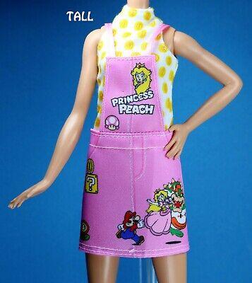 Barbie Fashionistas Animal Print Denim Ruffle Dress CURVY TALL PETITE REGULAR