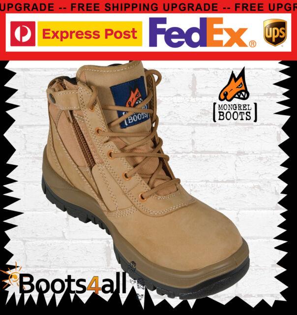 New Mongrel Women's Work Boots Safety Steel Toe Cap ZIP Side Lightweight 261050