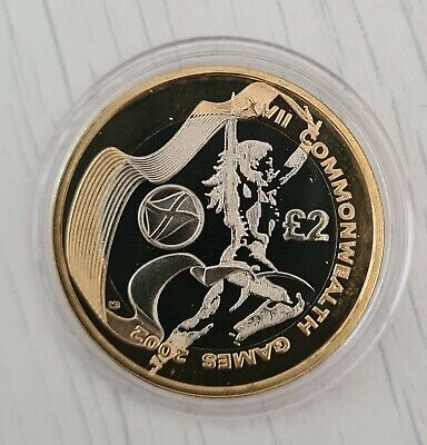 2002 Commonwealth Games Royal Mint Scotland £2 Two Pound Silver Proof Coin