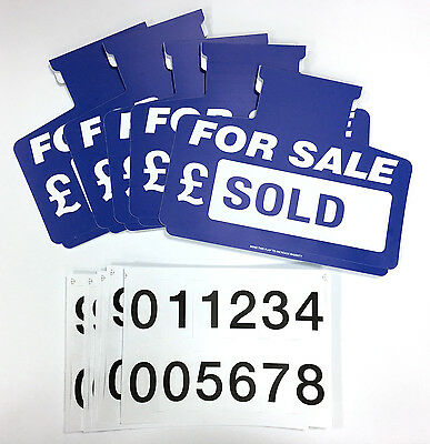 5 X CAR FOR SALE SIGN BOARDS SUN VISOR UNIT (BLUE)