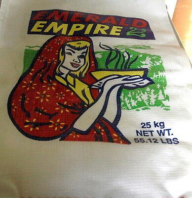 1000 Empty PP Grain Bags Woven Polypropylene Strong Rubble Sack 55 lb 33