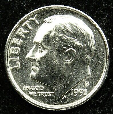 1996 D ROOSEVELT DIME Choice Unc  in Mint Cello