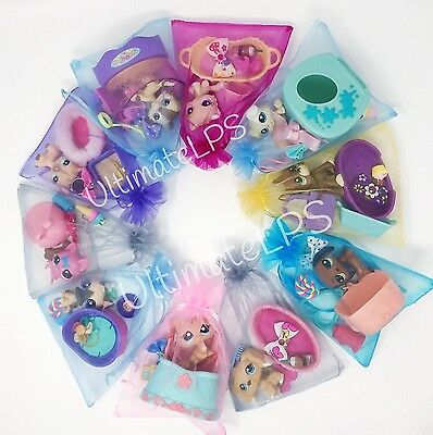Littlest Pet Shop LPS Surprise Lot - 1 Random Dog OR Cat & Accessories Gift Bag