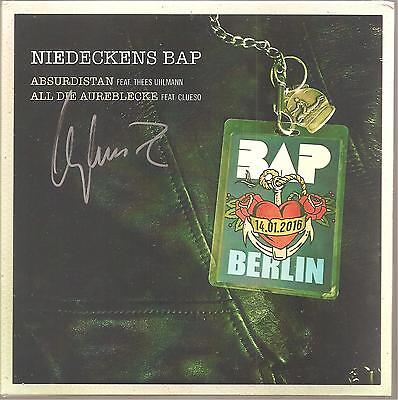 "Niedeckens BAP Uhlmann Clueso ""Absurdistan / All Die Aureblecke"" 7"" Vinyl signed"