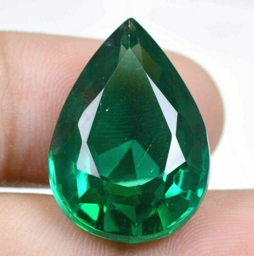 51.80Ct Colombian Natural Green Emerald Pear Cut Certified Loose Gemstone GO0298