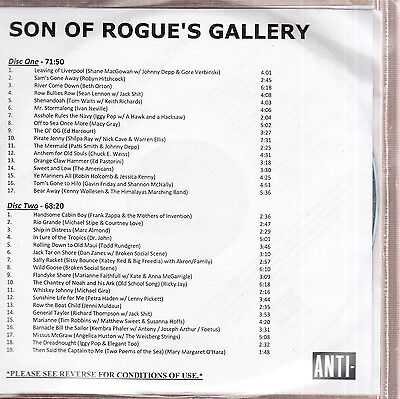 son of rogue's gallery limited edition 2x cd tom waits/keith richards zappa on Rummage