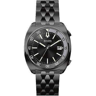 Accutron Black Bracelet - Bulova Accutron II Men's 98B219 Quartz Black Stainless Steel Bracelet 43mm Watch