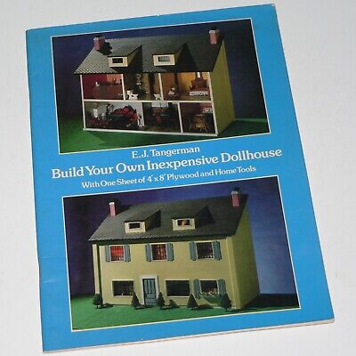 BUILD YOUR OWN INEXPENSIVE DOLLHOUSE - budget plywood projects / crafts - VGC for sale  Monticello