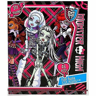 Monster High Doll Character (46 Pieces) Floor Puzzle by Mattel - Monster High Character Dolls