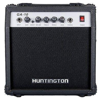 Huntington Guitar Amplifier 10 Watts Controls Gain, Volume, Treble, Middle, Bass