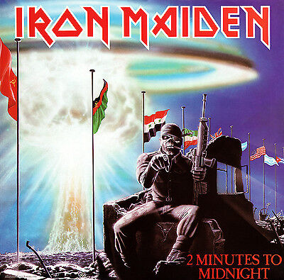 IRON MAIDEN - 2 Minutes to Midnight Album Cover Art Print Poster 12 x 12