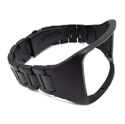 Black Stainless Steel Watch Band Wrist Strap for Samsung Gear S SM-R750