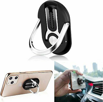 Universal 360 Finger Ring Cell Phone Stand  Air Vent Car Holder Mount Cell Phone Accessories