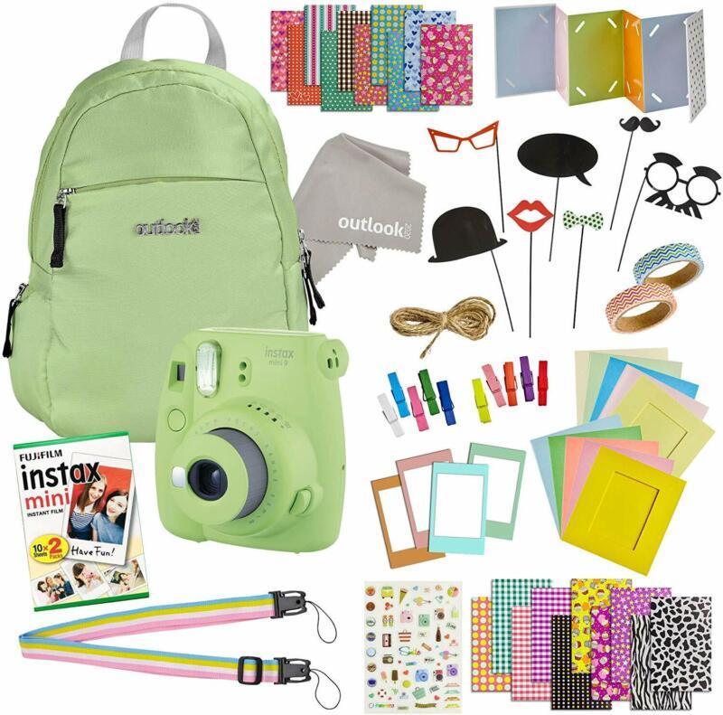 Instax Mini 9 Camera Travel Bundle - 60 Piece Accessory Kit with Shoulder Bag, 2