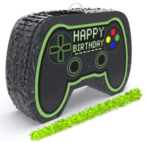 Video Game Controller Pinata with Stick for Birthday Gamer Parties,Party Decor