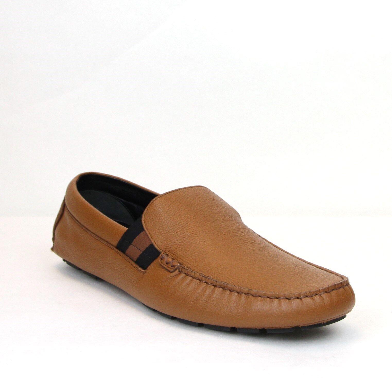 $660 Gucci Men's Brown Soft Praga Leather Slip-Ons Shoes 11.5/US 12 363835 2567