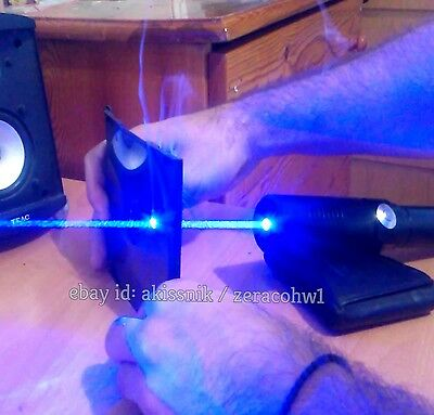 Extremely Powerful Blue Laser Pointer Focusable Beam 445nm Wicked Burning Lazer