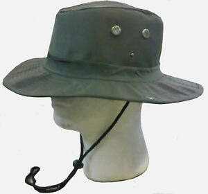 Boonie-Fishing-Hiking-Snap-Brim-Army-Military-Bucket-Sun-Hat-Cap-Green