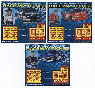 2000 Raceway Riches New Jersey  2 Lottery Tickets  Dale Sr   Dale Jr     Martin