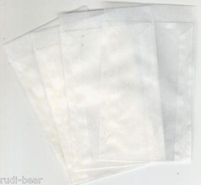 100 Pergamintüten hochwertige Qualität  75x117  mm und 16 mm Klappe     pt705