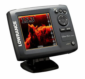 new lowrance elite 5x dsi fishfinder w 455 800 khz. Black Bedroom Furniture Sets. Home Design Ideas