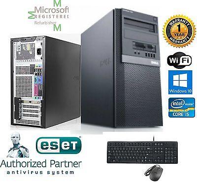 Dell Gaming TOWER PC i5 2500 Quad 3.3GHz 16GB 500GB SSD Windows 10 Pro 64 FX 380