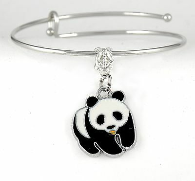 Panda Charm Bracelet Panda Bear bangle Panda jewelry Best jewelry gift present