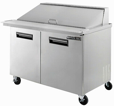 Maxx Cold Mcr48m 48.3 Commercial Mega Top Salad And Sandwich Prep Table Cooler
