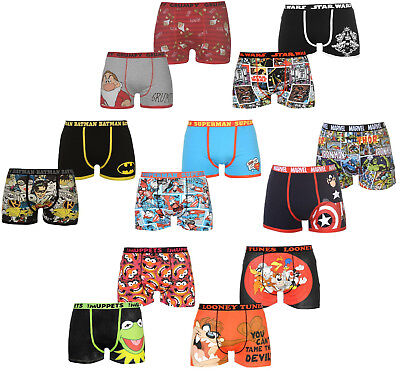 ✔ 2 x CHARACTER Herren Boxershorts Batman Superman Star Wars Marvel DC Comics