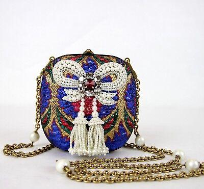 Gucci Multicolor Brocado Perla Lazo Bolso de Fiesta Con / Cristales 453575...
