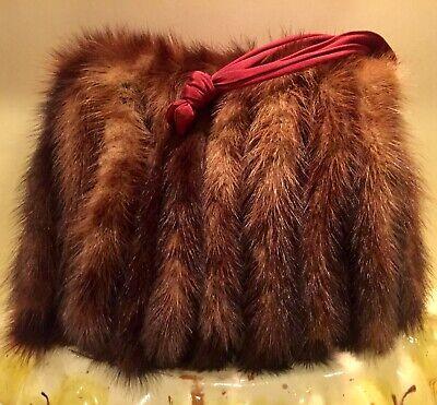 1930s Handbags and Purses Fashion Antique 1930's Timeless Rolled Mink Pelt  Purse/hand Muff $39.99 AT vintagedancer.com