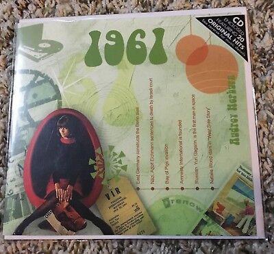 BRAND NEW 1961 The Classic Years 20 Track CD Greetings Card Birthday Anniversary (Classic Rock Birthdays)