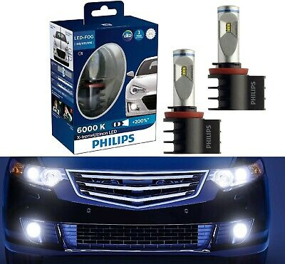 Philips X-Treme Ultinon LED Kit 6000K White H8 Light Two Bulbs DRL Cornering Fit comprar usado  Enviando para Brazil