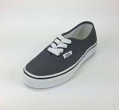 Vans Authentic Kids Shoes Pewter/Black 0EE0PBQ #1851 Pewter Kids Shoes