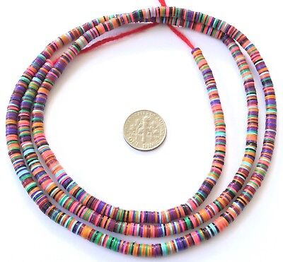 Magic Bright Pink mixed Recycled Phono Record Vinyl African trade beads-Ghana