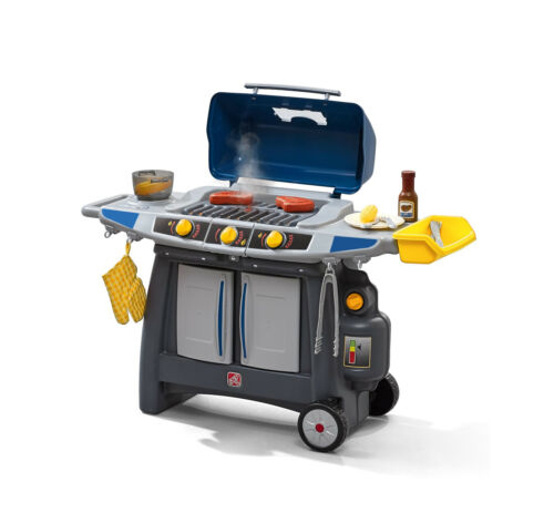 Step2 Sizzle & Smoke Barbecue (BBQ) Toy Grill with 15 Piece Accessory Play Set