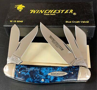 1998 WINCHESTER 5049 BLUE CRUSH VELVET SOWBELLY POCKET KNIFE USA NEVER USED