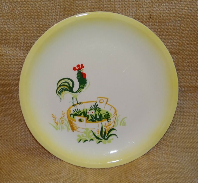 Paden City Pottery Made in USA Provincial Rooster Lunch Dessert Salad Plate