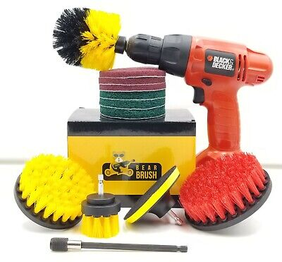 Drill Brush Attachment 14 Pc Set Power Brushes and Scouring Pads For Tile Carpet