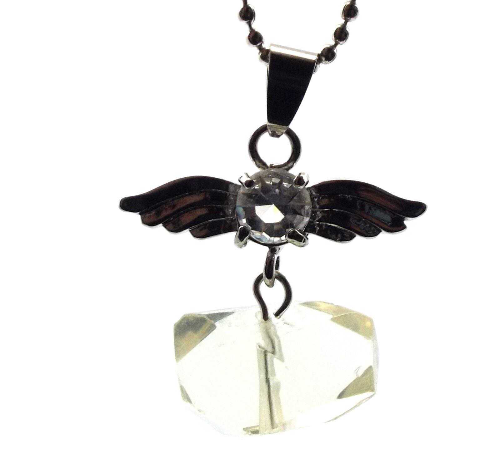 Ange Gardien Inspiré Herkimer Diamant Pendentif Cristal Pierre Précieuse