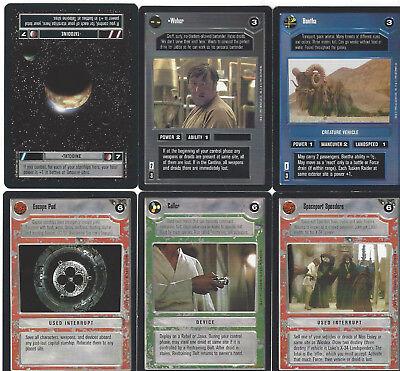 6 cards Star WARS Customizable Card Game CCG - genau die auf dem Scan 5