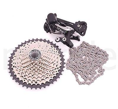 Shimano Deore SLX M7000 Bike Rear Derailleur,Cassette,Chain 1x11s 11-42 MID-cage